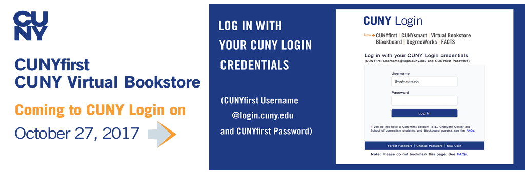 New CUNY Login on October 27, 2017